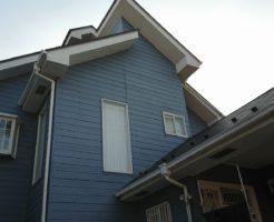 塗装した木質系サイディング