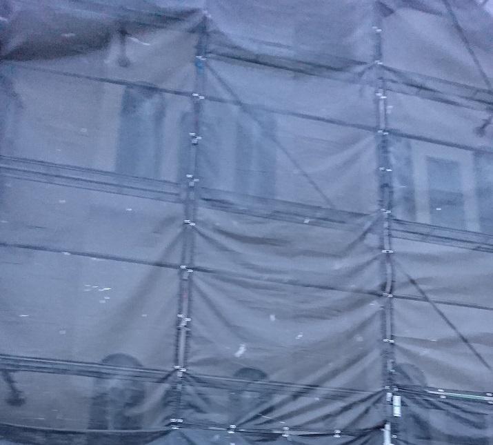 外壁塗装足場2