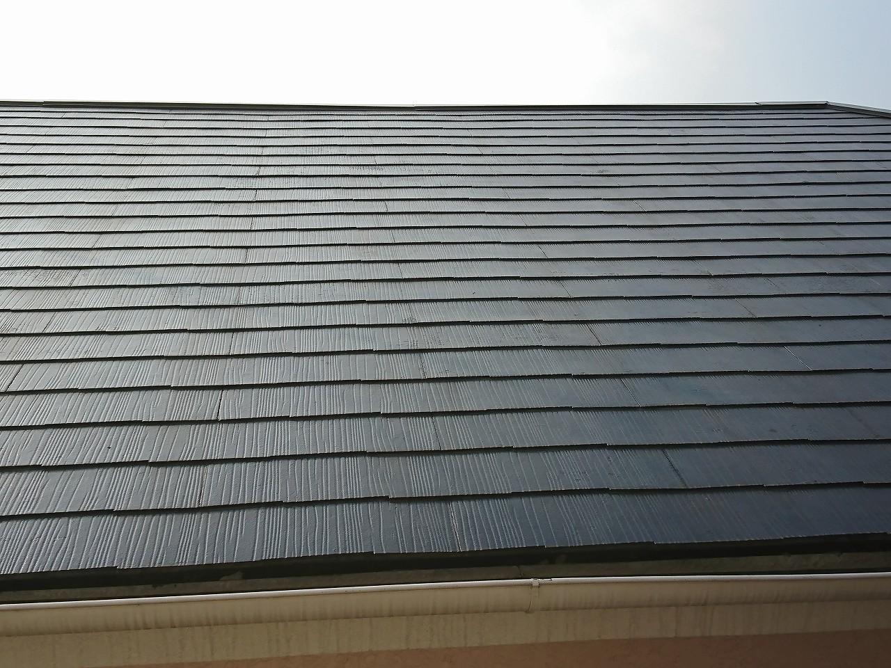 外壁塗装後のスレート屋根1