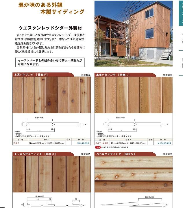 株式会社ナガイ木質系サイディングボードカタログss