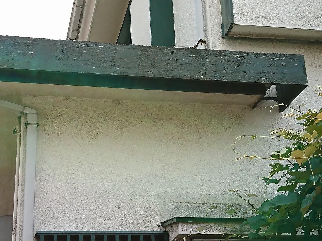 付帯部分とモルタル壁の劣化