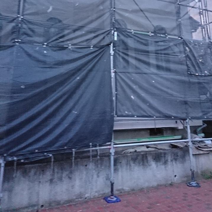 外壁塗装足場1