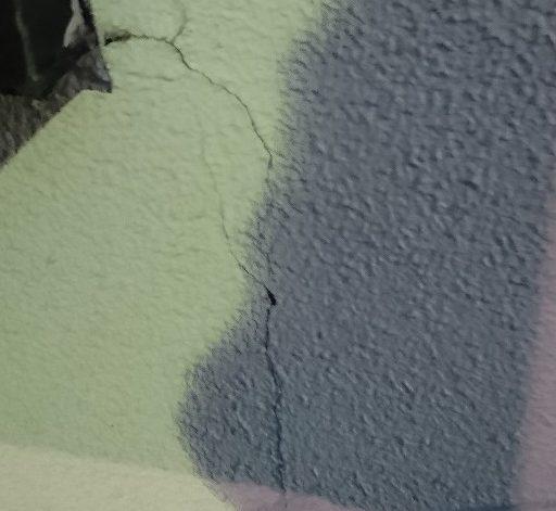 モルタル壁構造クラック