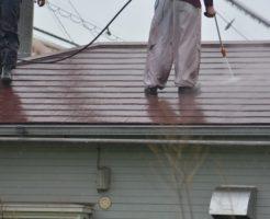 外壁塗装の高圧洗浄1